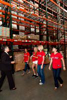 Red Sox Wives Visit the Greater Boston Food Bank