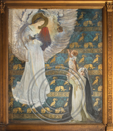 Mural by Edwin Austin Abbey at the Boston Public Library