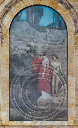 Mural by Pierre Puvis de Chavannes at the Boston Public Library